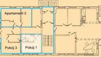 Pokój 1 WIlla Kinga - Pokoje w centrum Krościenka